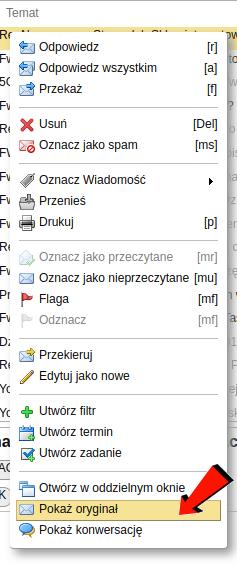1dd9fd11f86aa7 W oknie źródła zaznaczamy całość tekstu (np. myszą albo wciskając Ctrl-A).  Zaznaczony tekst kopiujemy do schowka (np. wciskając klawisze Ctrl-C).